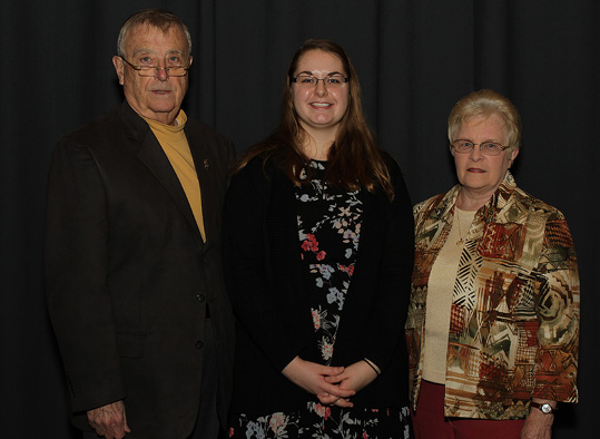 Scholarship donors with scholarship recipient