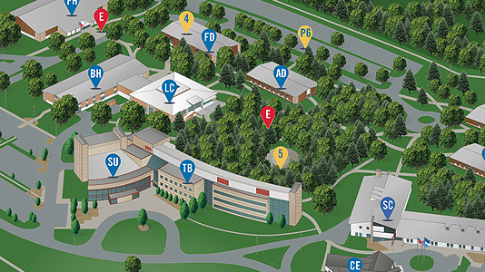 picture of interactive campus map