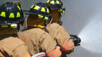 fire fighters training at BC3