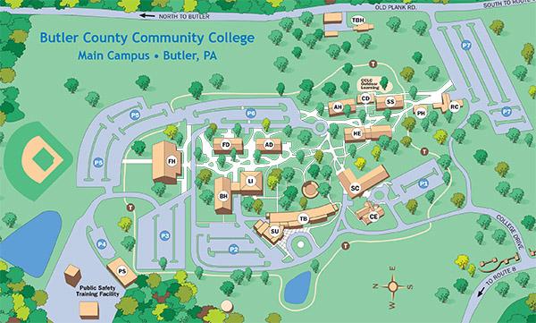 Butler Community College Campus Map.Butler County Community College Campus Map
